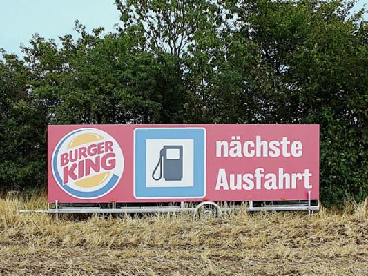 Burger King Autobahn-Werbung von Strassenmax