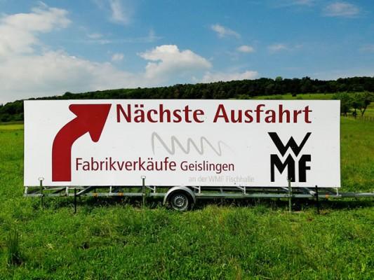 WMF Maxi-Werbebanner vom Profi - Strassenmax